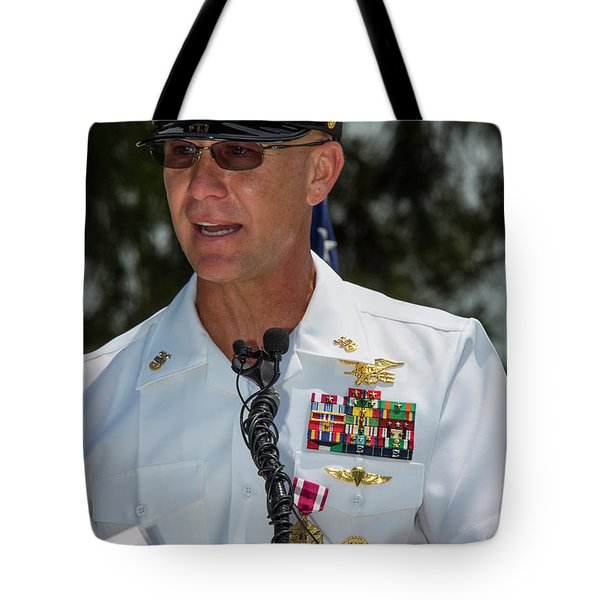 Command Master Chief Bryan Yarbro Tote Bag by Michael Wood