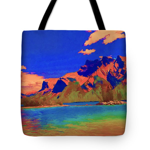Complementary Mountains Tote Bag by Jo-Anne Gazo-McKim