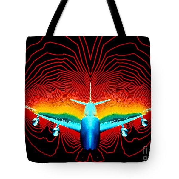 Computer Simulation Of Airplane Flight Tote Bag by Nasa