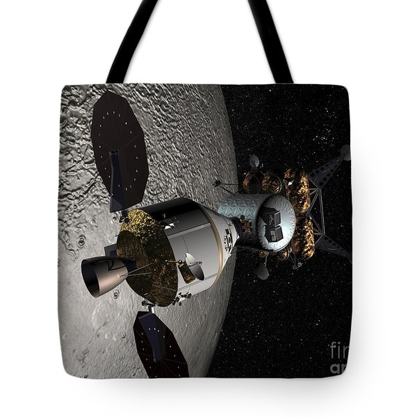 Concept Of The Orion Crew Exploration Tote Bag by Stocktrek Images