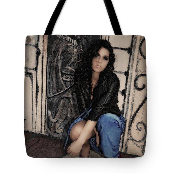 Concrete Velvet 6 Tote Bag by Donna Blackhall