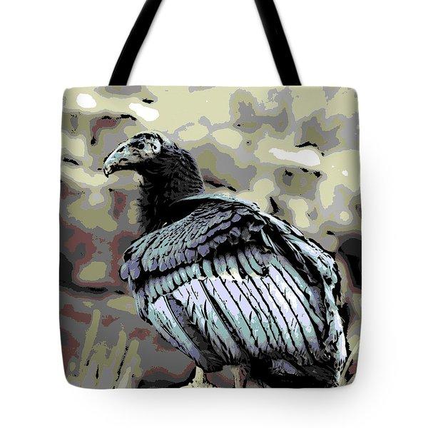 Condor Profile Tote Bag by George Pedro