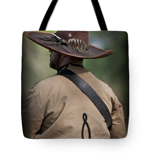 Confederate Cavalry Soldier Tote Bag by Kim Henderson