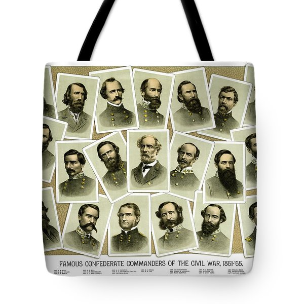 Confederate Commanders Of The Civil War Tote Bag by War Is Hell Store