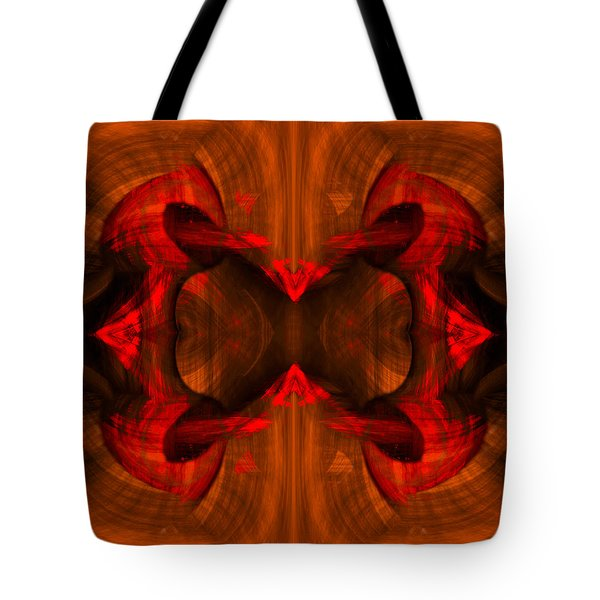 Conjoint - Rust Tote Bag by Christopher Gaston