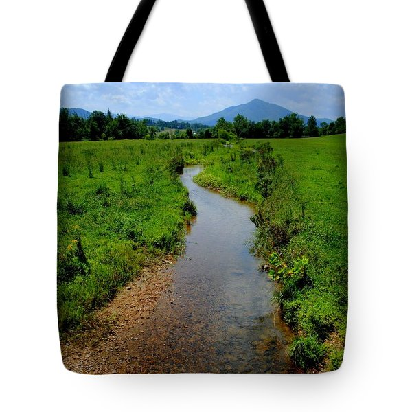 Cool Mountain Stream Tote Bag by Frozen in Time Fine Art Photography