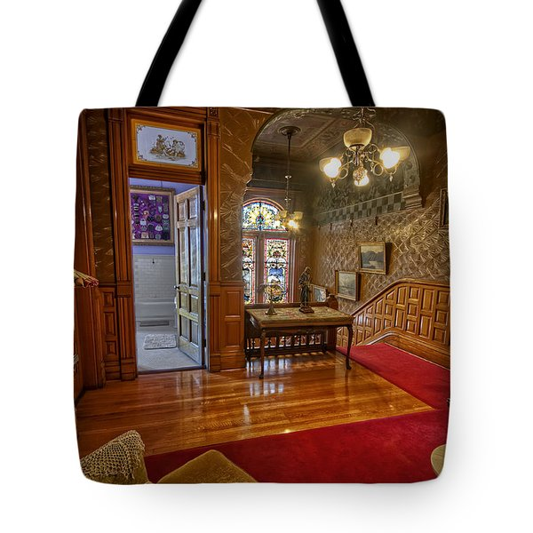 Copper King Mansion 2nd Floor Landing - Butte Montana Tote Bag by Daniel Hagerman