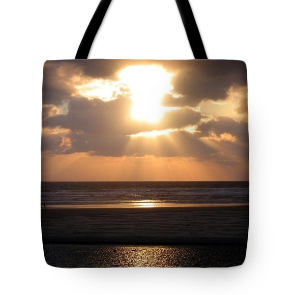 Copper Sunset Stroll Tote Bag by Will Borden