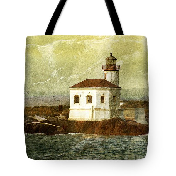 Coquille River Lighthouse Tote Bag by Jill Battaglia