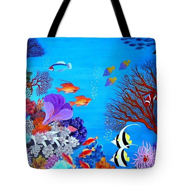 Coral Garden Tote Bag by Fram Cama