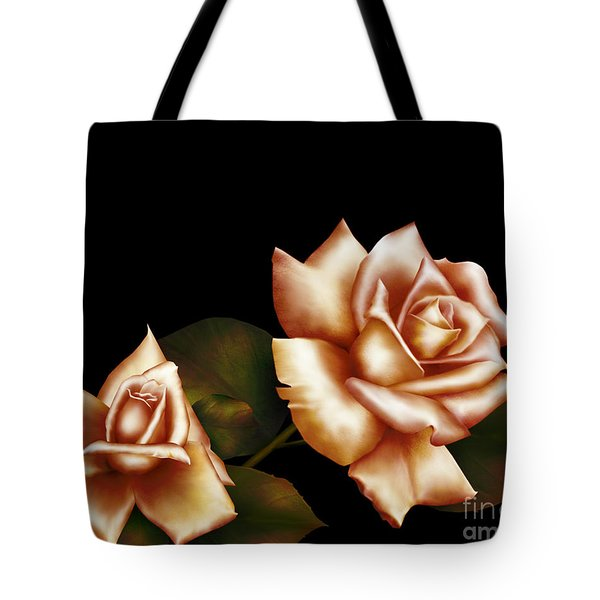 Coral Hue Tote Bag by Cheryl Young