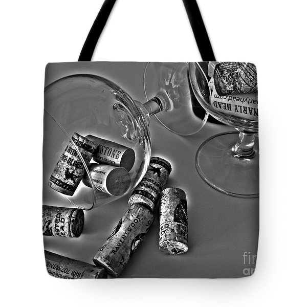 Corks 3 Tote Bag by Cheryl Young