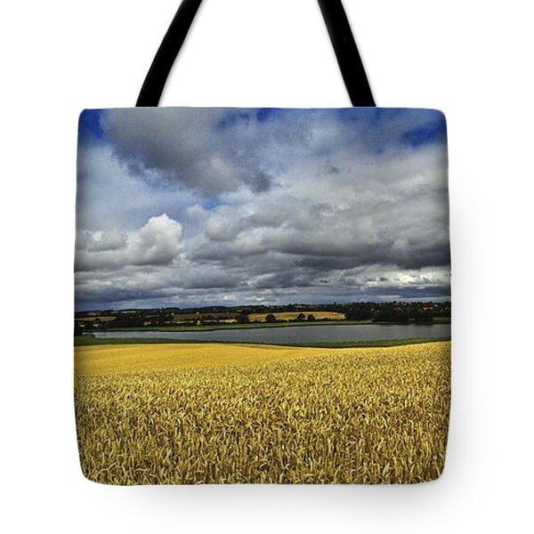 Corn Field Panorama Tote Bag by Heiko Koehrer-Wagner