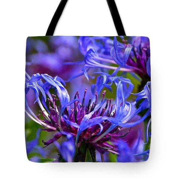 Cornflower Color Tote Bag by Byron Varvarigos