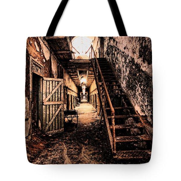 Corridor Creep Tote Bag by Andrew Paranavitana