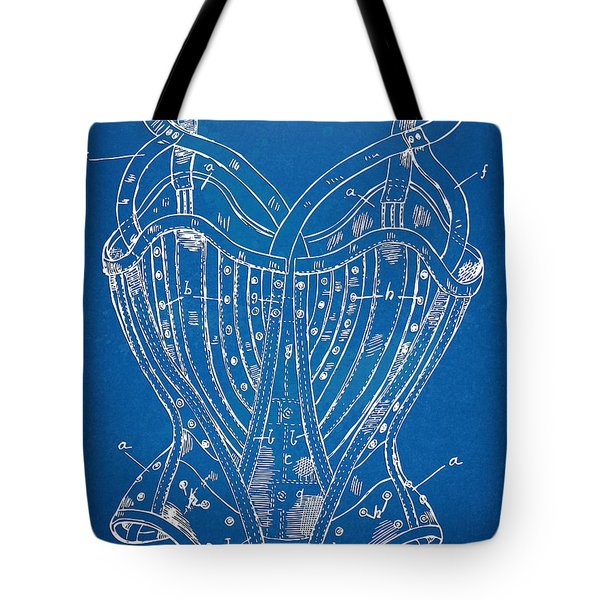 Corset Patent Series 1905 French Tote Bag by Nikki Marie Smith