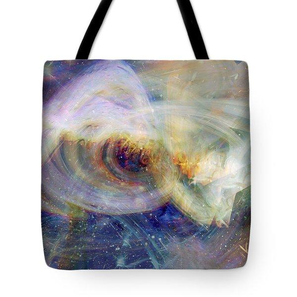 Cosmic Dust Tote Bag by Linda Sannuti