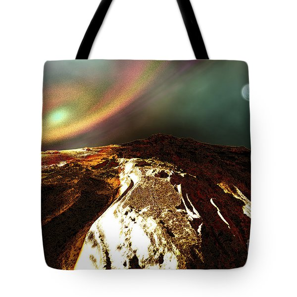 Cosmic Landscape Of An Alien Planet Tote Bag by Corey Ford