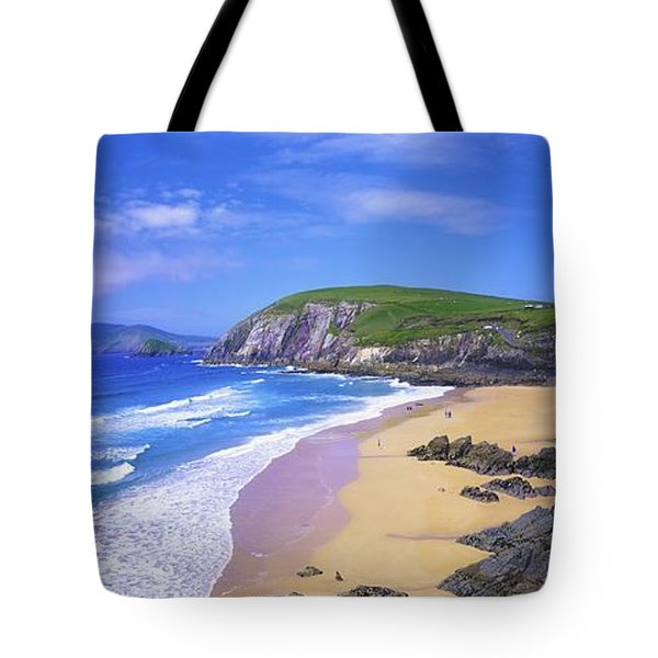 Coumeenoole Beach, Dingle Peninsula, Co Tote Bag by The Irish Image Collection