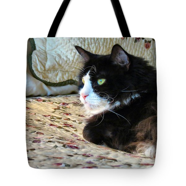Country Kitty Tote Bag by Art Dingo