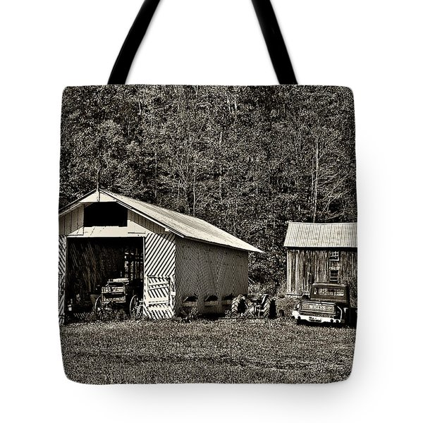 Country Life Sepia Tote Bag by Steve Harrington