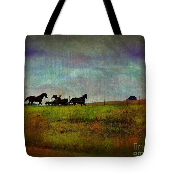 Country Wagon 2 Tote Bag by Perry Webster