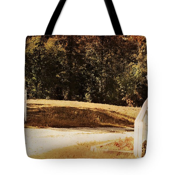 Country Welcome Landscape Tote Bag by Jai Johnson