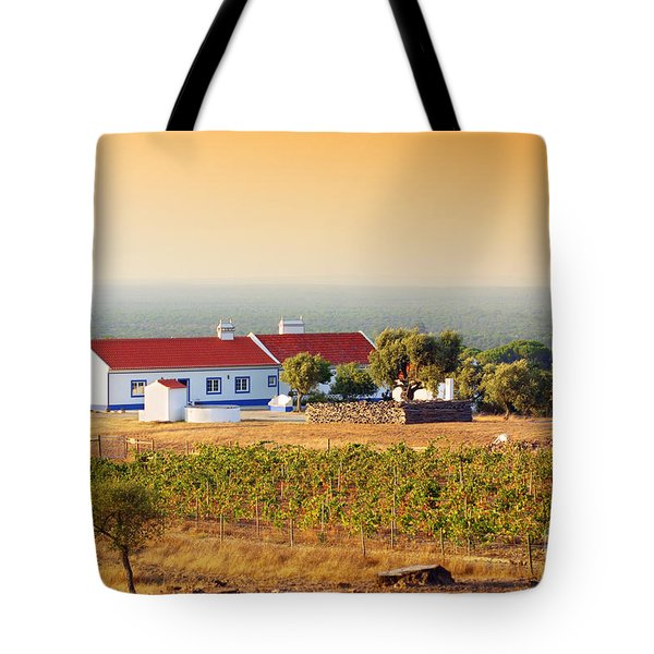 Countryside House Tote Bag by Carlos Caetano
