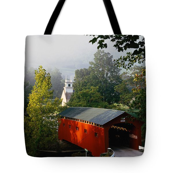 Covered Bridge Tote Bag by Rafael Macia and Photo Researchers
