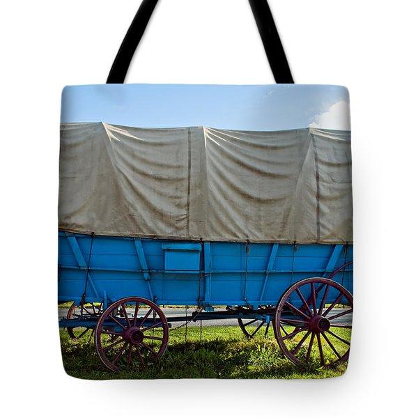 Covered Wagon Tote Bag by Steve Harrington