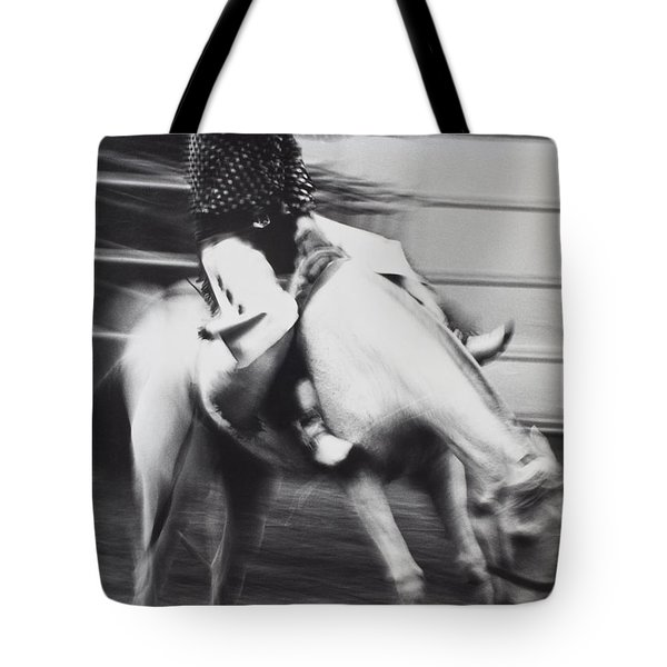 Cowboy riding bucking horse  Tote Bag by Garry Gay
