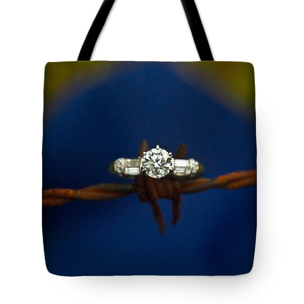 Cowgirl Engagement Ring 1 Tote Bag by Douglas Barnett