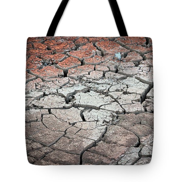 Cracked Earth Tote Bag by Athena Mckinzie