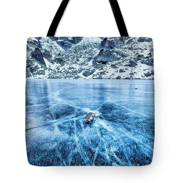 Cracks In The Ice Tote Bag by Evgeni Dinev