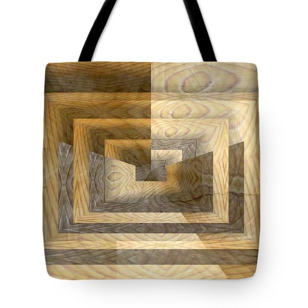 Cracks In The Veneer Tote Bag by Tim Allen