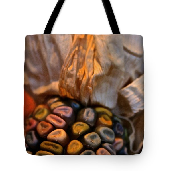 Crazee Corn Colors Tote Bag by Susan Herber