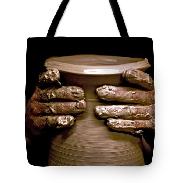 Creation at the Potter's Wheel Tote Bag by Rob Travis
