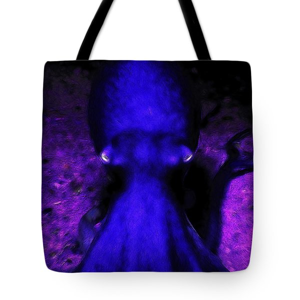 Creatures Of The Deep - The Octopus - V4 - Blue Tote Bag by Wingsdomain Art and Photography