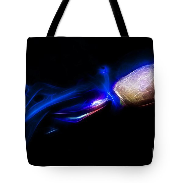 Creatures Of The Deep - The Octopus - V5 - Electric - Blue Tote Bag by Wingsdomain Art and Photography