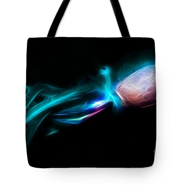 Creatures of The Deep - The Octopus - v5 - Electric - Cyan Tote Bag by Wingsdomain Art and Photography