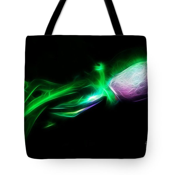 Creatures of The Deep - The Octopus - v5 - Electric - Green Tote Bag by Wingsdomain Art and Photography