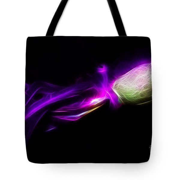 Creatures of The Deep - The Octopus - v5 - Electric - Purple Tote Bag by Wingsdomain Art and Photography