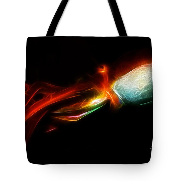 Creatures of The Deep - The Octopus - v5 - Electric - Red Tote Bag by Wingsdomain Art and Photography