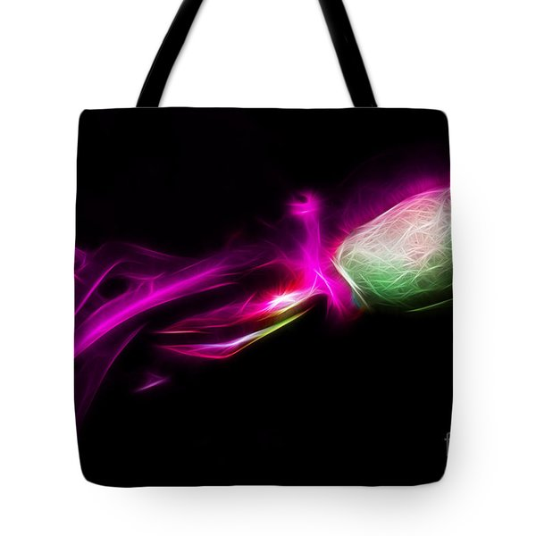 Creatures of The Deep - The Octopus - v5 - Electric - Violet Tote Bag by Wingsdomain Art and Photography