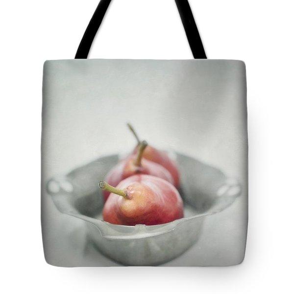 crimson and silver Tote Bag by Priska Wettstein