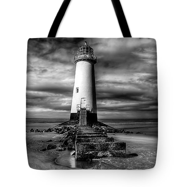 Crooked Lighthouse Tote Bag by Adrian Evans