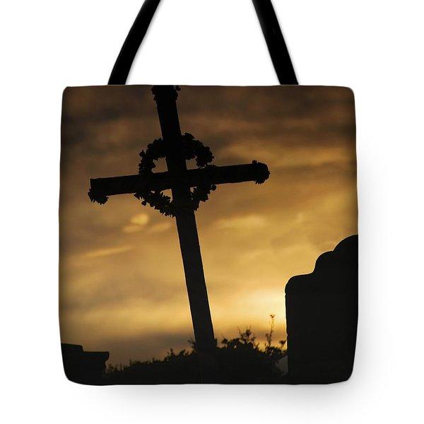 Cross At Sunset Tote Bag by John Short