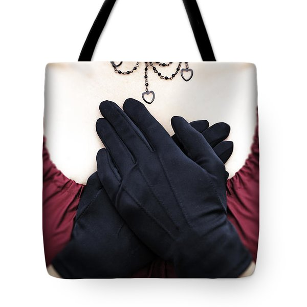 crossed hands Tote Bag by Joana Kruse