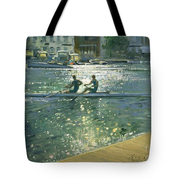 Crossing The Light Break - Henley Tote Bag by Timothy Easton