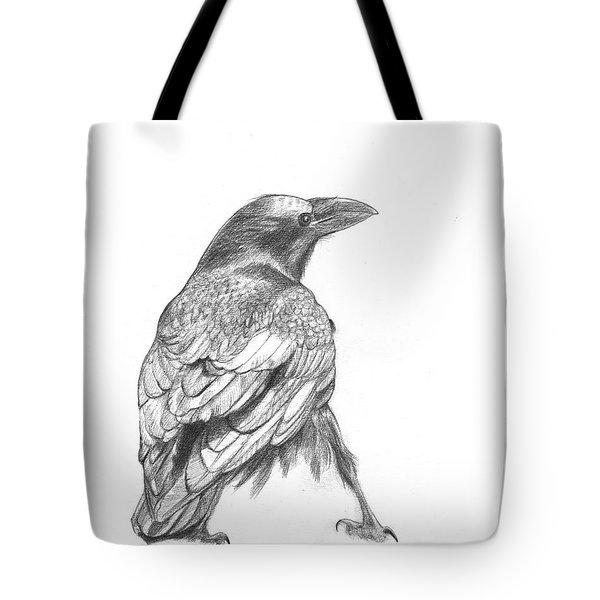 Crow Tote Bag by Kazumi Whitemoon